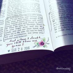John Bible Art Journaling UK: Micro-Journaling by Judith Rollins New Bible, Bible Art, Bible Verses, Bible Journaling For Beginners, Art Journaling, Bible Doodling, Bible Notes, Bible Prayers, Illustrated Faith