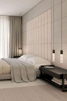 Bedroom Minimalist Gray Interior Design 48 Ideas For 2019 Bedroom Minimalist, Interior Design Minimalist, Modern Master Bedroom, Modern Bedroom Decor, Stylish Bedroom, Bedroom Black, Master Bedroom Design, Bedroom Vintage, Bedroom Ideas