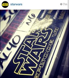 Already underway: On Friday director JJ Abrams shared this image of a clapperboard with th...