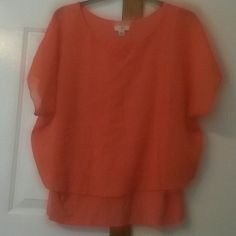18/20w top Orange 18/20w two layered top. Tops Blouses