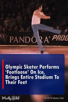 Olympic Skater Performs 'Footloose' On Ice, Brings Entire Stadium To Their Feet Ice Skating Lessons, Ice Skating Videos, Dance Music Videos, Music Songs, Got Talent Videos, Irish Dance, Perfect Timing, Cinema, Dance Moves