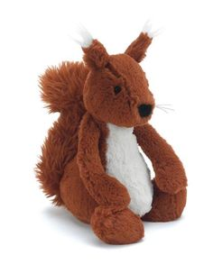 """I never thought the day would come when I'd say - I think I NEED this stuffed squirrel in my life!! Infinite """"Aw""""s to the power of, say, 10. Jellycat Bashful Squirrel"""