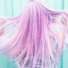 I want #cotton candy colored hair.