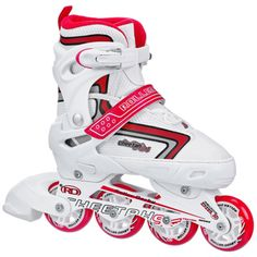 @Overstock - Cheetah S4 Girl's Adjustable Inline Skates - Speed and power are two results your child will get wearing the Cheetah S4 girls inline skates. These have an easy fit boot and give support and stability for your child.  http://www.overstock.com/Sports-Toys/Cheetah-S4-Girls-Adjustable-Inline-Skates/8531632/product.html?CID=214117 $49.99