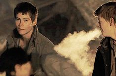 And He Really Liked Newt>>>>>>>>>it looks like Newt is breathing fire like a dragon!