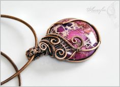 Sea sediment jasper and bronze pendant by amorfia on DeviantArt