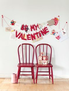 Cute way to display valentine's cards