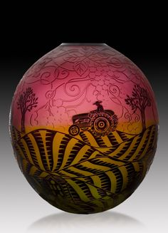 Glass work done by Duncan McClellan who has a studio and hot shop in St. Pete.