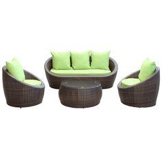 Avo 4 Piece Outdoor Patio Sofa Set