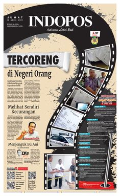 indopos front pages Newspaper Design Layout, Page Layout Design, Magazine Layout Design, Graphic Design Layouts, Graphic Design Inspiration, Book Design, Cover Design, Newspaper Collage, Magazin Design