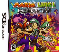 A description of tropes appearing in Mario & Luigi: Partners in Time. The second game in the Mario & Luigi RPG series, released in 2005 for the Nintendo … Super Mario Rpg, Mario Und Luigi, Mario Bros., Mario Party, Dragon Quest, Mario Brothers, Ds Games, Games To Play, Playing Games
