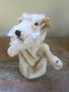 Vintage Steiff Fox Terrier Hand Puppet.    via Etsy.