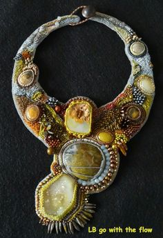 Bead embroidered necklace - by Lucie Blaauw on Flickr