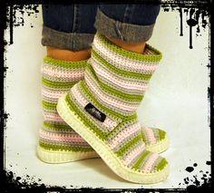 Botas Crochet Botas de punto para calle adultos al por ukicrafts