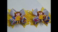 Diy Moño Triángulos 3D elaborados en liston, video 593