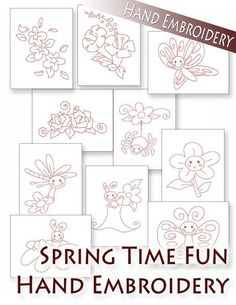 (10) Name: 'Embroidery : Spring Time Fun - All 10 Hand Embroidery