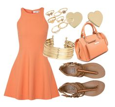 """Aurantiaco"" by jessicatomlinson7 on Polyvore"