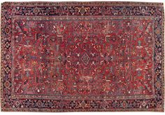Vintage hand-knotted Persian rug with a medallion design on a red field, this rug has pristine detailing and is ready for in-home use.