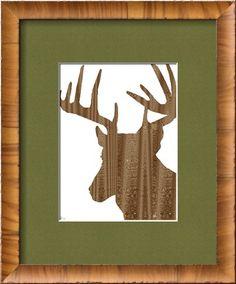 Wood Grain Deer by Peter Gebhardt. #mancave #hunting-decor
