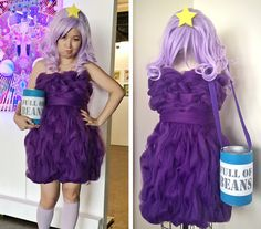 Abenteuer Zeit klumpig Space Princess LSP Cosplay Kostüm Kleid nur lila Tüll…
