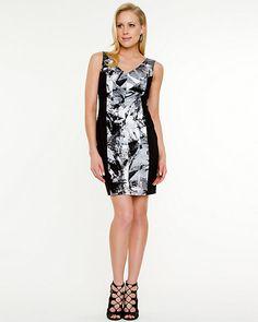 Sateen Digital Print Body-Con Dress