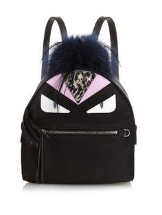 Fendi Mohawk Monster Backpack Bag Black Multi