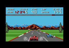 Burnin' Rubber for Amstrad CPC (Ocean, 1990). CPC exclusive. Racing game.