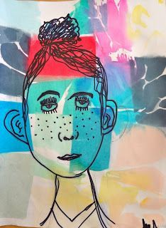 Art Teachers loooove to do self portraits with kids. This was a cool twist on the self portrait AND it involves art appreciation AND is ...