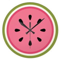 Watermelon Large Clock