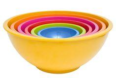 Asst. of 6 Colorways Mixing Bowls on OneKingsLane.com