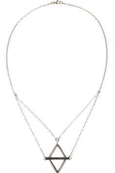 Pamela Love|Balance silver and sapphire necklace|NET-A-PORTER.COM