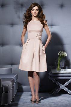 Cute modest bridesmaid dress, but minus the flowers.