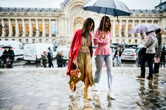 Sometimes the most challenging weather situations bring the biggest opportunity for creativity. Here are our favorite street style looks.