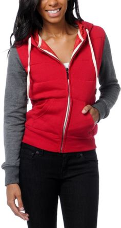 #Empyre Girl Shelby Jester Red & Charcoal Grey #hoodie #zumiez #jacket