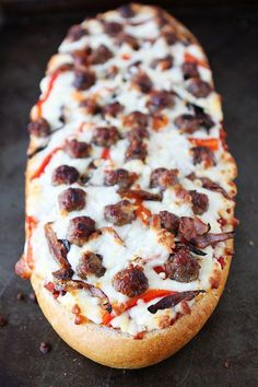 French Bread Pizza Recipe | Two Peas and Their Pod