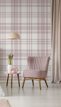 If you are looking for a subtle tartan wallpaper, then choose this gorgeous Pastel Tartan Pattern wallpaper mural. With off-white and pink and grey tones, this stunning pastel wallpaper will bring a range of calm tones in the room which you install it. Place in your bedroom and style with a range of pink furniture and décor. Opt for a stylish scalloped chair and pastel pinks curtains, together with retro accessories for a fun and young feel. Love this wallpaper? Get the look at… Tartan Wallpaper, Pastel Wallpaper, Pastel Pink, Pink Grey, Pink Furniture, Pink Curtains, Tartan Pattern, Beautiful Bedrooms, Pretty In Pink