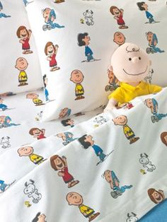 Cotton Flannel Sheets | Charlie Brown | Peanuts Gang