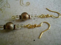 Metallic Brown Champagne India Earrings Copper by chicagolandia, $10.00