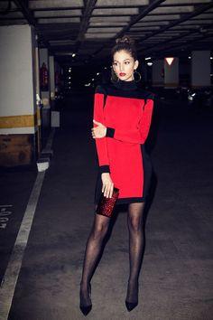Thursday, in the 7 days / of Úrsula Corberó. A week in the closet of the actress Leather Leggings, Leather Skirt, Moda Zendaya, Tom Ford, Balmain, Fashion Photo, Fashion Models, Polka Dot Tights, Zendaya Style