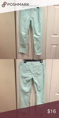 Mint Skinny Jeans These jeans are in like new condition. They have some stretch in them too. The pastel mint color is so fun and goes well with dark or light colors. Mossimo Supply Co. Jeans Skinny