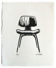 Eames DCW Linocut