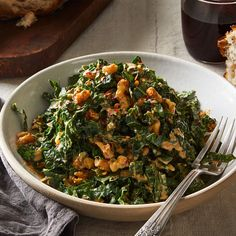 Lacinato Kale & Mint Salad With Spicy Peanut Dressing Recipe on Mint Recipes, Kale Recipes, Whole Food Recipes, Dinner Recipes, Healthy Recipes, Vegetarian Recipes, Recipies, Lacinato Kale Recipe, Peanut Dressing
