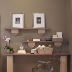 Nesting shelves for your home office. #bedroom #office #DIY