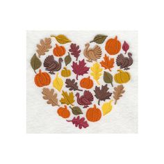 Decorative Machine Embroidered, Autumn Heart Silhouette, Design Towel,... ($15) ❤ liked on Polyvore featuring home, bed & bath, bath and bath towels