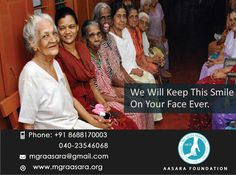 MGR Aasara Foundation helps in well being of old citizens by donations and put a smile on their face. Be a part of the services handled, and make the difference in someone's life!  For any further information or Donations, please feel free to contact us. Contact Details: Phone: +91 98660 87878 040-23546068. Email id :mgraasara@gmail.com Logonto: www.mgraasara.org # mgr, #mgraasara, #help, #khairatabad, #khairatabadconstituency, #KeepSmiling
