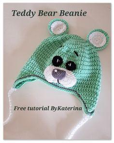 Teddy Bear Beanie Crochet Free Pattern - ByKaterina