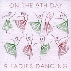 #twelve #days #christmas #nine #ladies #dancing