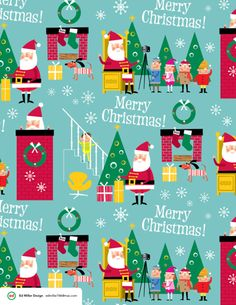 Xmas Wrapping Paper, Gift Bags & Textile Patterns by Ed Miller Design, via Behance