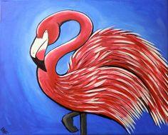 """Saatchi Online Artist William Thomas Farago; Painting, """"Flamingo#3"""" #art"""