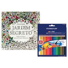 livro jardim secreto johanna basford   Kit - Livro - Jardim Secreto - Johanna Basford + Lápis de Cor ...